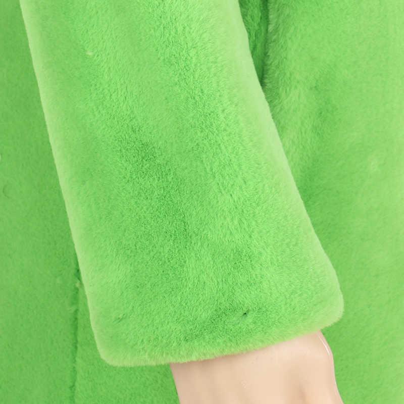 Nerazzurri 冬のフェイクファーのコート女性黄色、グレー、ブラック毛皮の上着ロング人工毛皮のコート大サイズ生き抜く 5xl 6xl 7xl