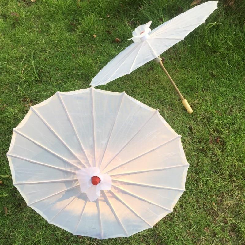 5pcs / lot 무료 배송 백색 실크 파라솔 웨딩 장식 및 선물 부탁으로 신부를위한 중국 우산