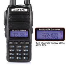 Baofeng UV-82 Dual-Band 136-174 / 400-520 MHz FM Ham Tovejs Radio Transceiver + Øreprop i Moskva lager