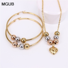 MGUB New stainless steel beads (earrings necklace) manual suit 4 options Earrings free choice 30mm-70mm Free shipping