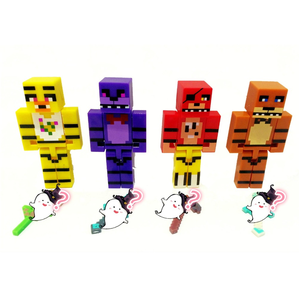 4 Pcs Set Minecraft Fnaf Five Nights Freddy 4 Toy Comes