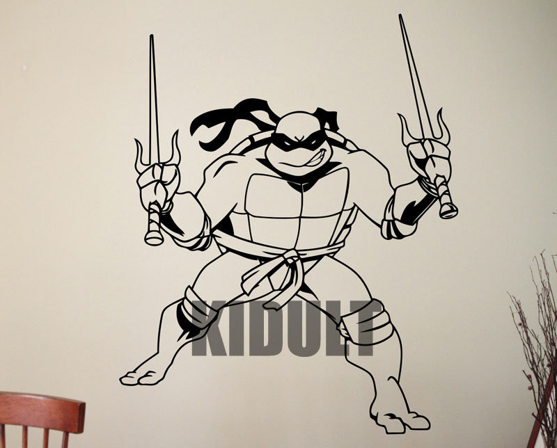 <font><b>Teenage</b></font> <font><b>Mutant</b></font> <font><b>Ninja</b></font> <font><b>Turtles</b></font> Cartoon Wall Stickers Wall Decals Vinyl Wall Decoration <font><b>Raphael</b></font> Painting Home Bedroom Wall Art