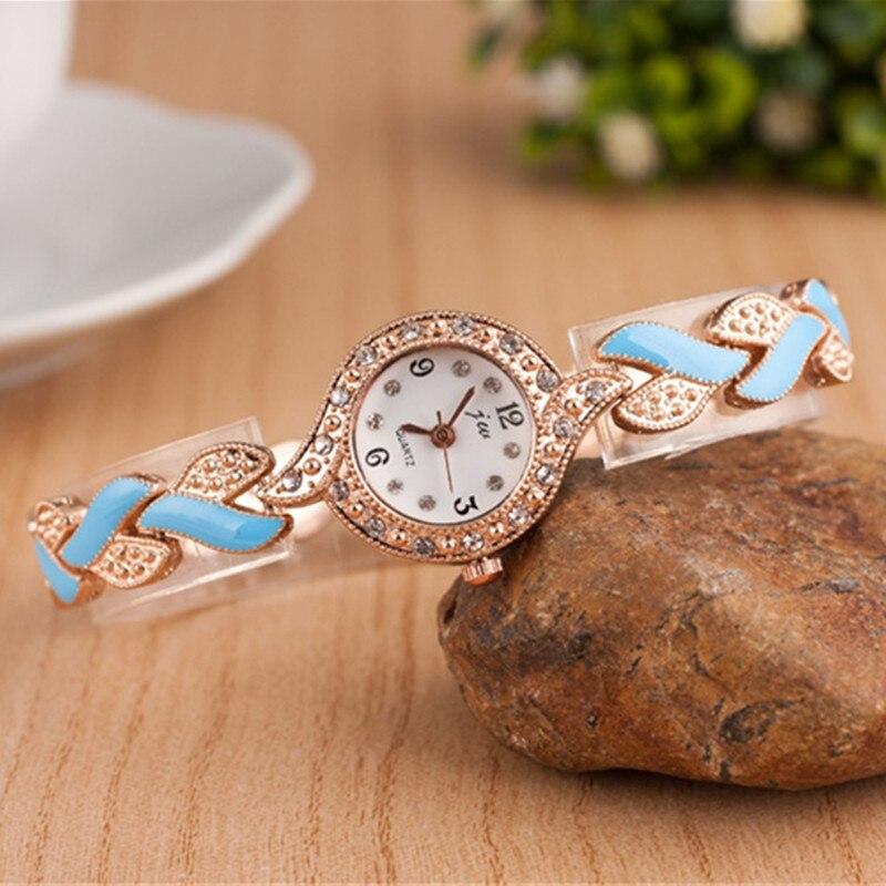 59c3f25461 2018 New Brand JW Bracelet Watches Women Luxury Crystal Dress ...