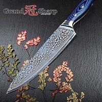 GRANDSHARP 67 Layers Japanese Damascus Knife Damascus Chef Knife 8 Inch VG 10 Steel Damascus Kitchen Knives G10 Handle PRO NEW