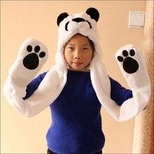 New Fashion Beanies Cute Animal Bear Panda Cartoon Kids Adult Hats Ears Plush Warm Cap Hat