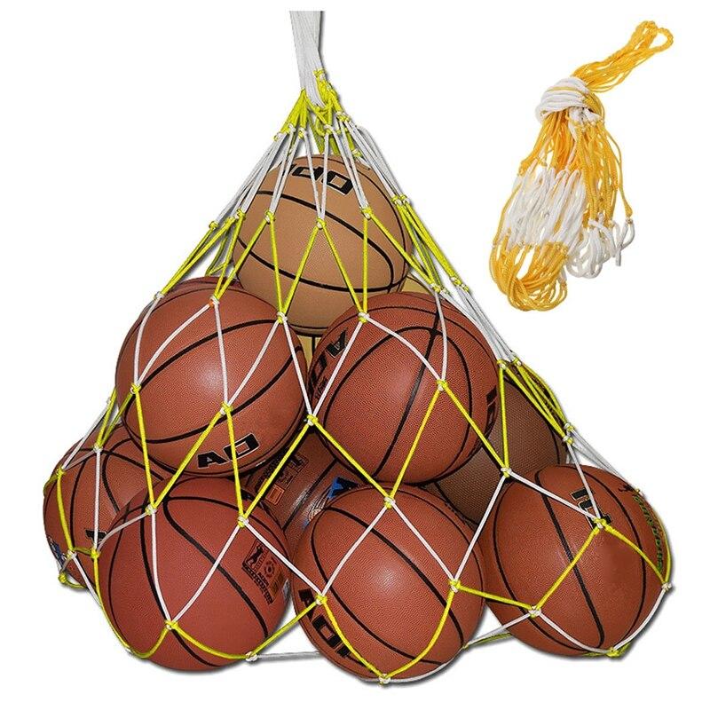 1 Pcs 10 Balls Sport Basketball Soccer Nylon Carry Mesh Bag 115cm                                                             #8