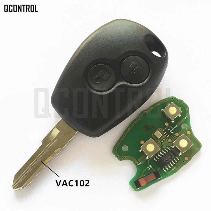 QCONTROL Car Remote Key Suit for Renault Megane Modus Clio Kangoo Logan Sandero Duster PCF7946/PCF7947 Chip