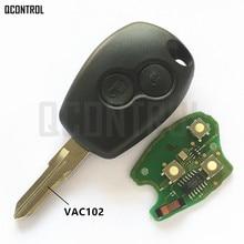 QCONTROL kluczyk samochodowy z pilotem garnitur dla Renault Megane Modus Clio Kangoo Logan Sandero Duster PCF7946/PCF7947 Chip