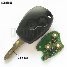 QCONTROL mando a distancia para coche Renault Megane Modus Clio Kangoo Logan Sandero Duster PCF7946/PCF7947 Chip