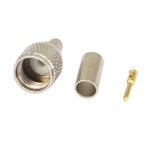 Image 1 - 100 stück RF stecker mini UHF männlichen für RG58 RG142 LMR195 kabel adapter