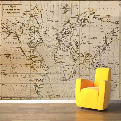 Magnetic curves map wall mural big global world map atlas vinyl magnetic curves map wall mural big global world map atlas vinyl wall art decal sticker larger gumiabroncs Choice Image