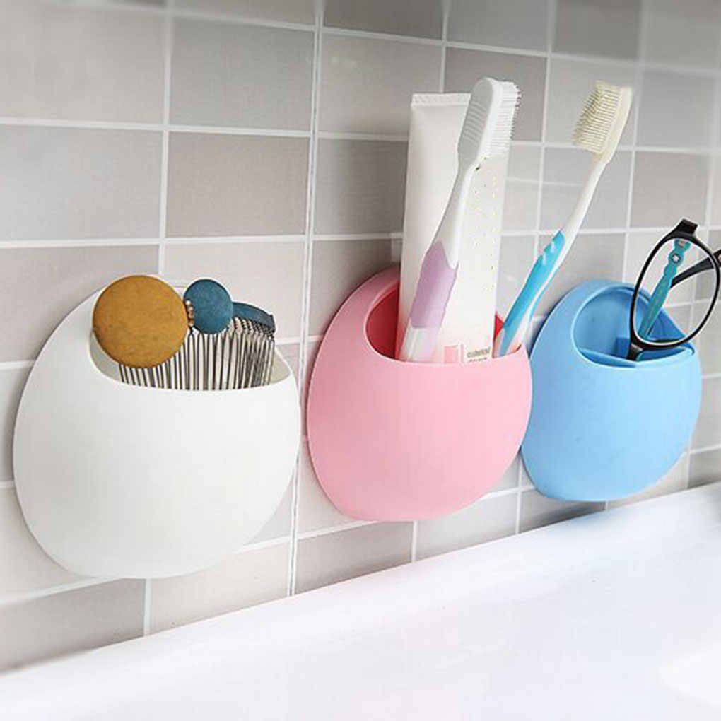 2019 Multi-functional Bathroom Shelves Strong Suction Cup Toothbrush Holder Sundries Storage Box