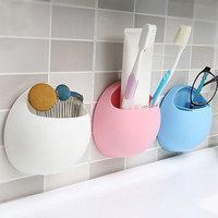 Multi-funktionale Badezimmer Regale Starke Saugnapf Zahnbürste Halter Kleinigkeiten Lagerung Box