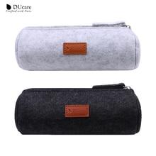 DUcare Makeup Bag Makeup Brush Cylinder Portable Travel Pouch Beauty C