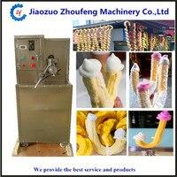 Мороженое попкорн конус полые трубки поп кукуруза пыхтел мороженое машина полые трубки кукурузы слоеного закуски экструдер