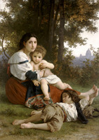 Handmade Oil painting reproduction Mother and Children by William Bouguereau