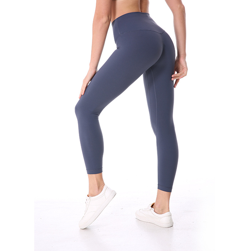NWT 2018 Eshtanga Sports tight Top Quality Women Yoga running pant High Elastic Waist Solid Skinny Stretch Leggings Size XS-XL plus size printed empire waist peplum top