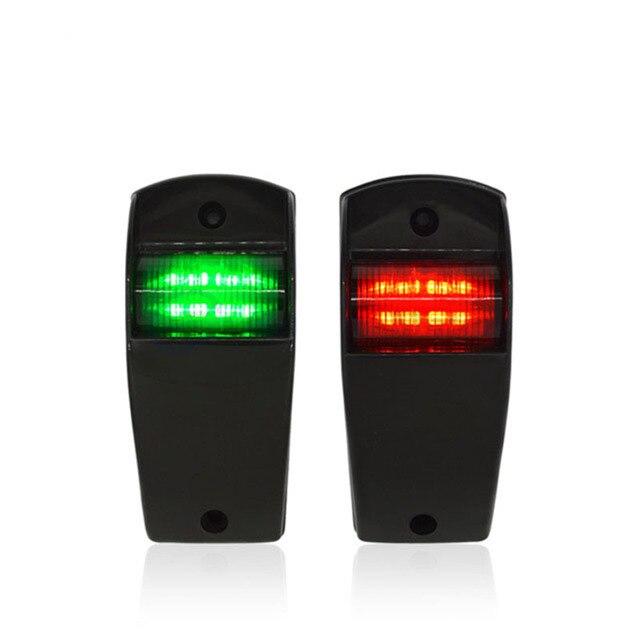 1 مجموعة 12 فولت مركبة بحرية يخت أضواء الملاحة الأحمر الأخضر ميناء الميمنة ضوء مصباح إشارة الإبحار