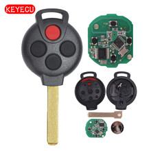 Keyecu Remote key Fob 3 1 Button 315MHZ 7941 Chip Keyless Entry for Smart Fortwo