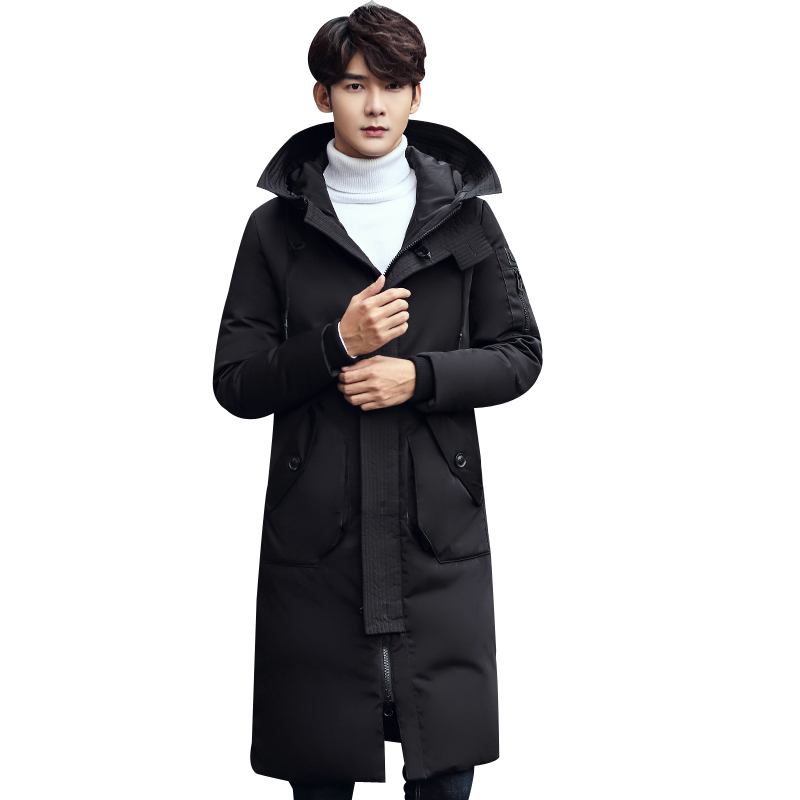 Sweet-Tempered Batmo 2018 New Winter High Quality Fashion Mens Casual Hooded Long Down Jacket Parkas,70% White Duck Down Coat Windbreaker Jackets & Coats High Quality And Inexpensive Back To Search Resultsmen's Clothing