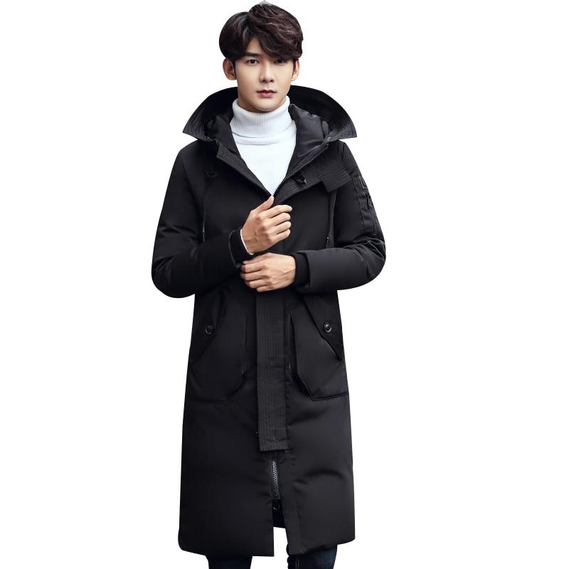 BATMO 2018 new winter high quality fashion men's casual hooded long   down   jacket parkas,70% white duck   down     coat   windbreaker.
