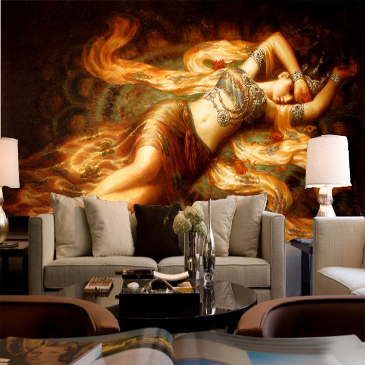 New Arrival Eco Friendly 3d Ink Oil Painting 100% Cotton