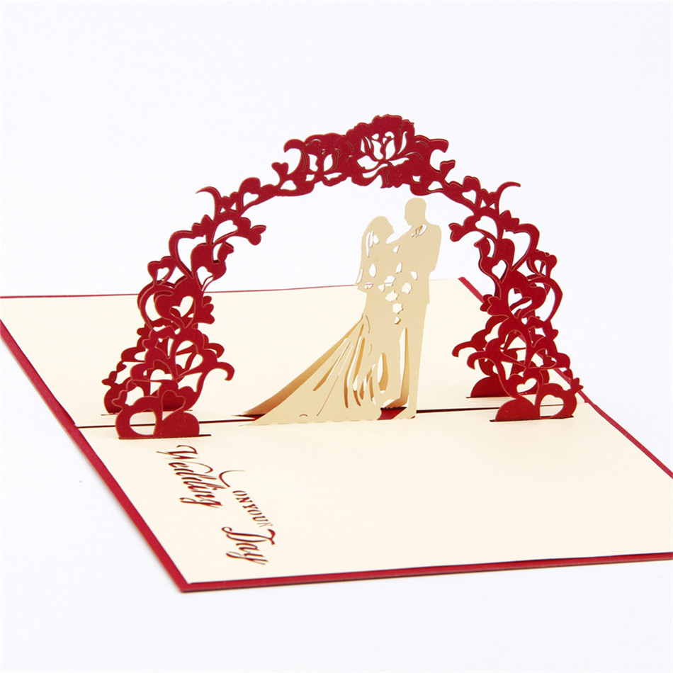 3D pop up Wedding invitations Diamond ring greeting card laser cut ...