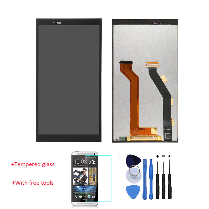 Original 100% Test LCD Display Touch Screen Digitizer Assembly For HTC One E9 PLUS E9+ A55 Black With Tools +Tempered Glass