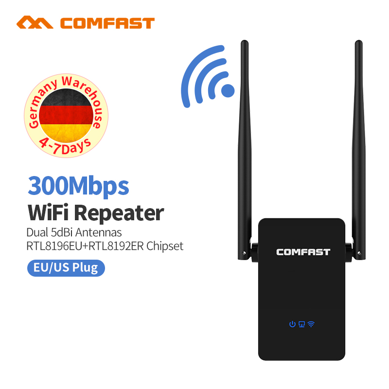Mini Wifi Repeater 300Mbps Wireless Network Repeater 2*5dBi Antenna Wifi Signal Booster Amplifier 802.11b/g/n Home wifi bridge