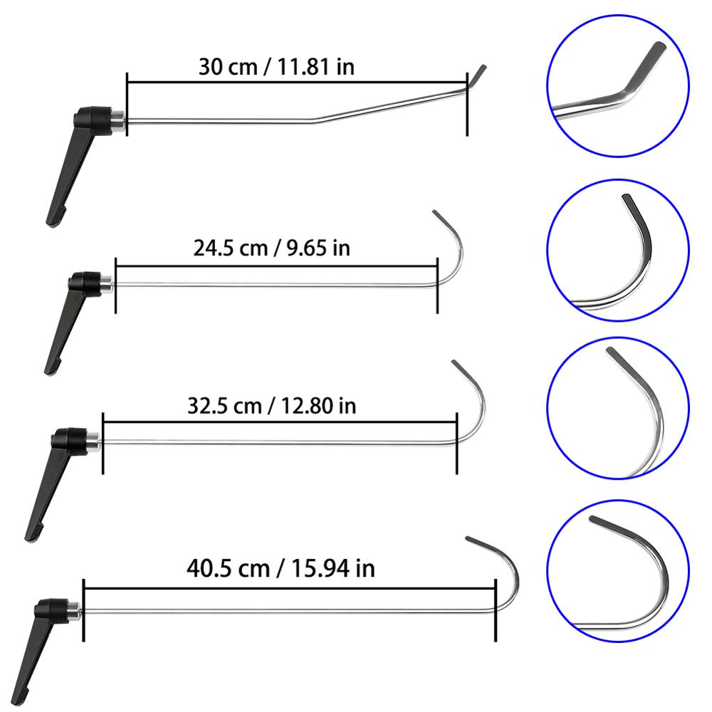 4pc New Designly PDR Rod Hooks Perfect for Door Dings Hail Repair and Dent Removal Dent