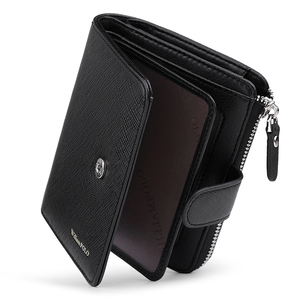 Image 4 - WILLIAMPOLO Man Walet Genuine Leather Hasp Closure Card Holder Small Bag With Gift Box for Men Card Wallet Mens Wallet PL319