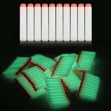 10pcs Fluorescent Soft Bullets Glow in Dark 7 2cm Refill Darts Toy Gun Bullets for glow