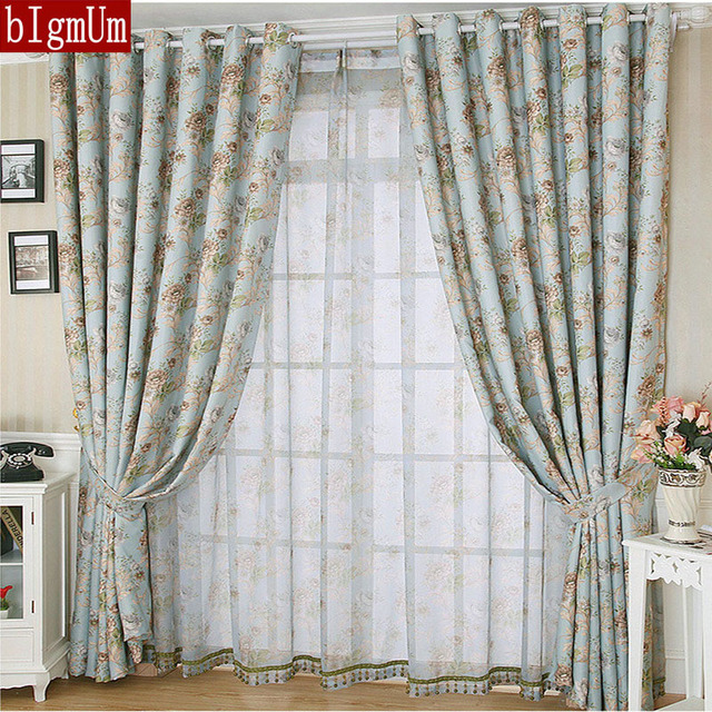 Rustic Window Curtains For Living Room/ Bedroom Floral Blackout Curtains  Window Treatment /drapes Home