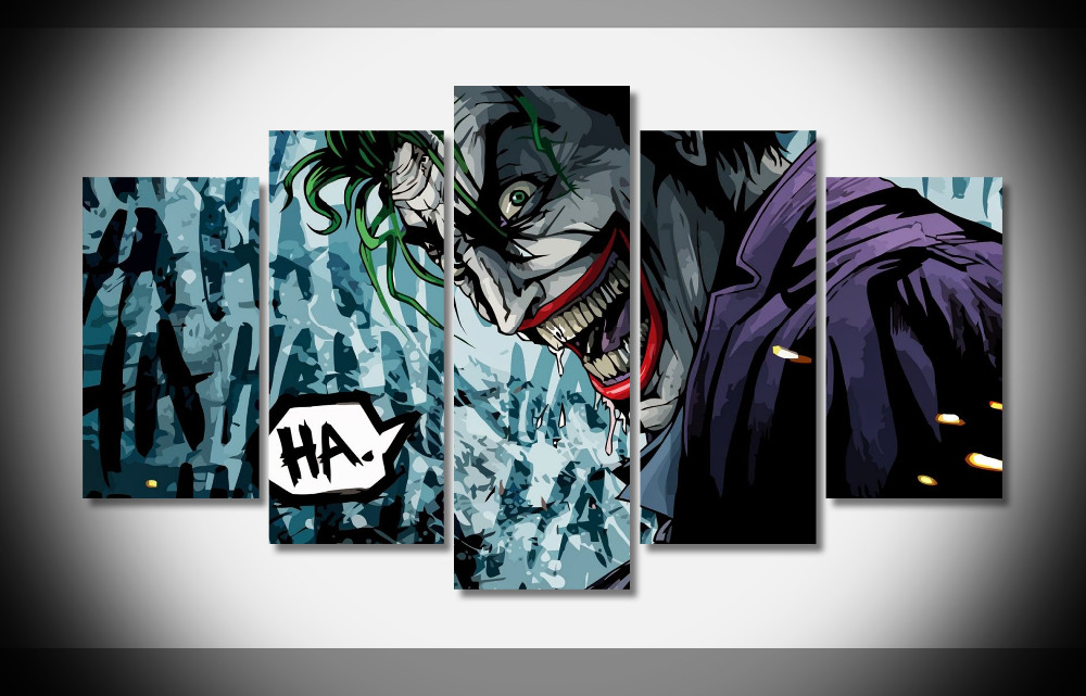 8274 Joker Batman The Dark Knight Movie Art Silk poster Framed Gallery wrap art print home wall decor wall picture Already hung