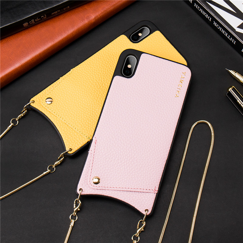 HTB1lg GbojrK1RkHFNRq6ySvpXaY Credit Card Leather Wallet Strap Crossbody Long Chain Phone Case for Iphone 11 pro XR XS Max 6S 8 7 plus luxury Back cover coque