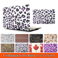 Leopard Print Water Sticker Case For Apple Macbook Air Pro Retina 11 12 13 Retina 15 Laptop Bag For Mac book 13.3 inch Tablet PC