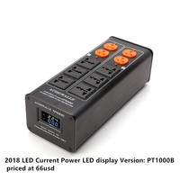 PT1000B filter power outlet Advanced Audio Power Purifier Filter AC Power Socket LED Current Voltage Display AC100V 250V 15A