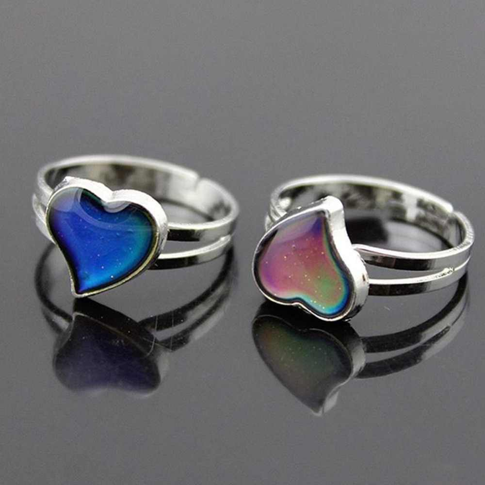 ff8efd4fd1 Band mood mood ring feeling Mood rings Color change adjustable size for  women Christmas birthday gifts