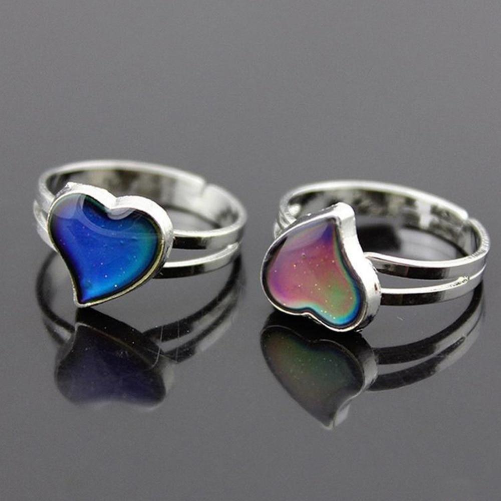 Женское кольцо настроения, кольцо настроения с изменением цвета, регулируемый размер для женщин, Рождественский подарок на день рождения д...