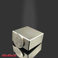1PCS Block 40x40x20mm Super Powerful Strong Rare Earth Block NdFeB Magnet Neodymium N35 Magnets