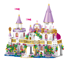 731 Pcs Princess Castle Windsor's Castle DIY Model Building Blocks Bricks Kit Toys Girl Birthday Gifts Compatible with all brand