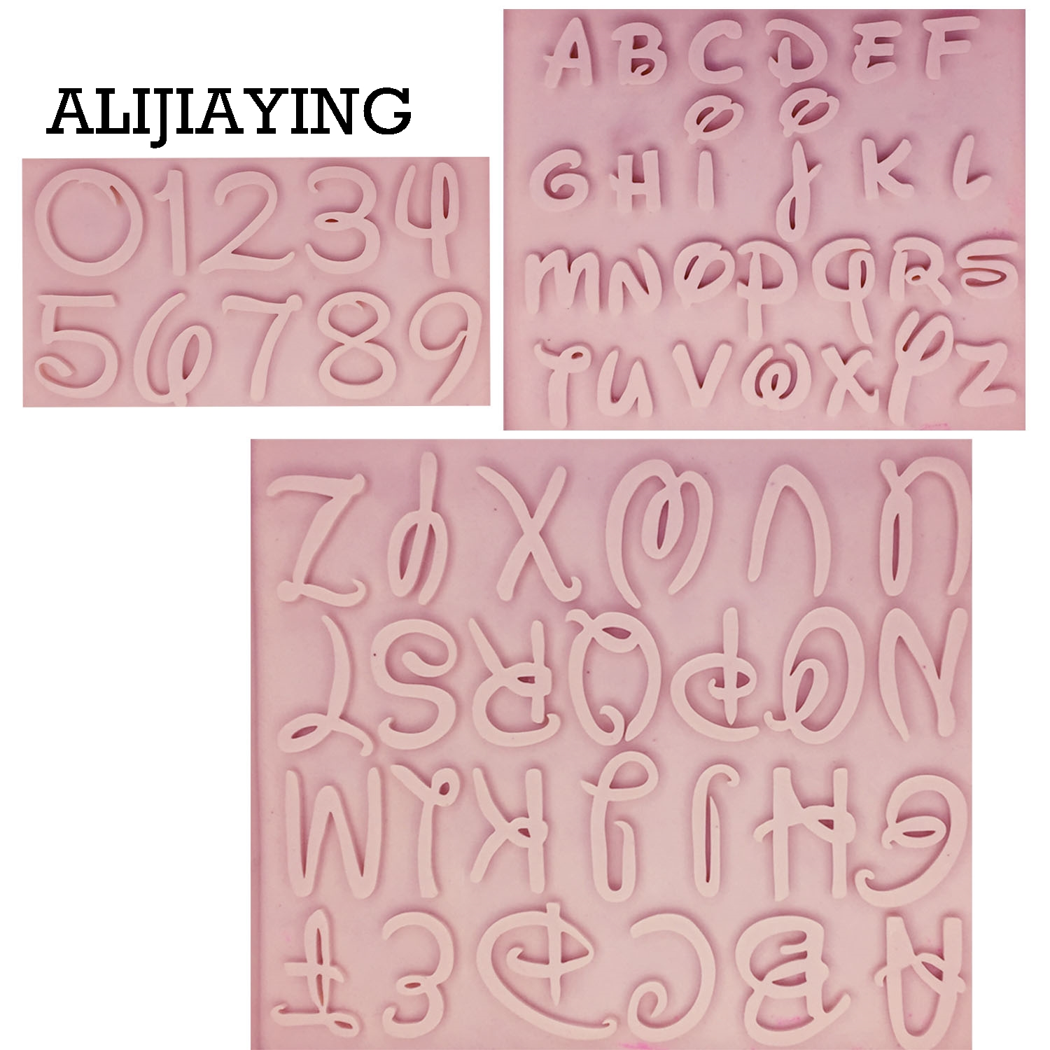 M1273 1Pcs DIY Alphabet silicone mold letter number fondant tools cake chocolate dessert tool Flexible Baking Mold