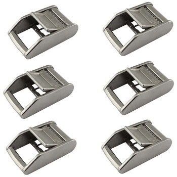 1 6Pcs 25MM Silver Metal Cam Buckle Ratchet Cargo Lashing Outdoor Sports nylon webbing Roof Mounted Luggage