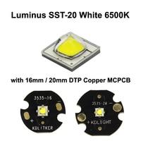 Luminus SST-20 White 6500K LED Emitter With 16mm / 20mm DTP Copper MCPCB - 1 pc