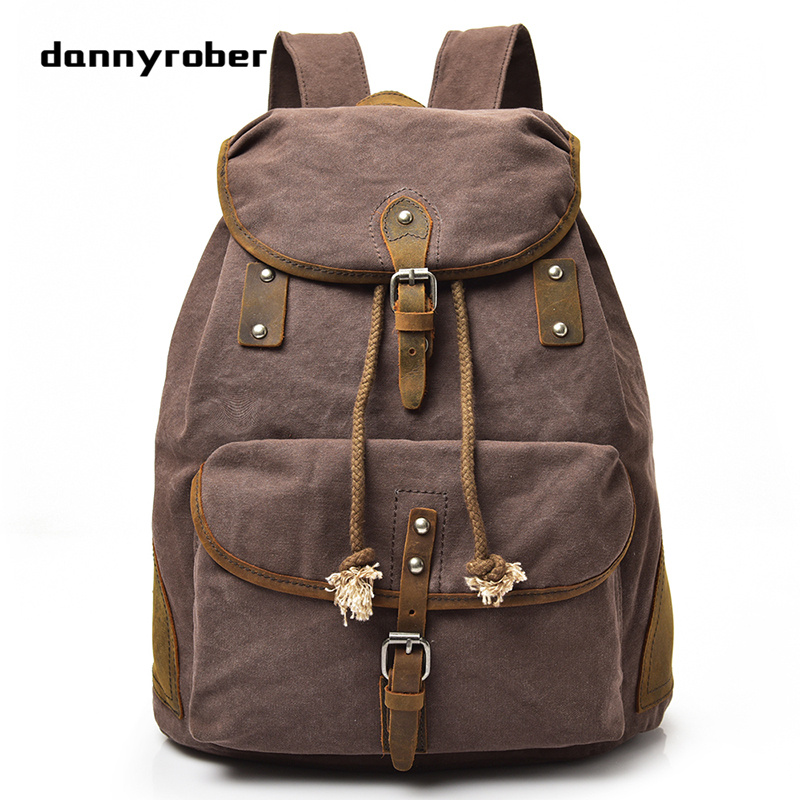 2017 New Men's Canvas Backpacks Vintage Backpack Fashion Mochila School Bags For Laptop Men Shoulder Bag Travel Bag F096