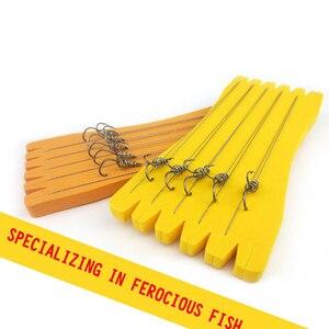 Image 5 - خطاف صيد للمياه المالحة خطاف صيد سمك كبير وقوي ومزدوج خطاف صيد رياضي لصيد الأسماك حامل صنارة صيد الأسماك من الفولاذ الكربوني B4