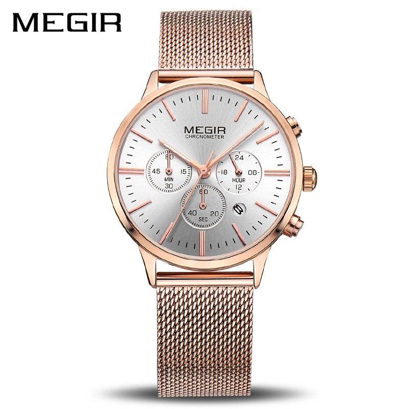 MEGIR Marke Luxus Frauen Uhren Mode Quarz Damen Uhr Sport Relogio Feminino Uhr Armbanduhr für Liebhaber Mädchen Freund 2011