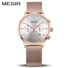 b017416d8bd0 Reloj MEGIR de la marca de lujo de las mujeres relojes de cuarzo de moda  señoras reloj Relogio femenino reloj de pulsera para lo.