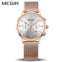 MEGIR marka lüks kadın saatler moda kuvars bayanlar İzle spor Relogio Feminino saat kol saati severler kız arkadaşı 2011