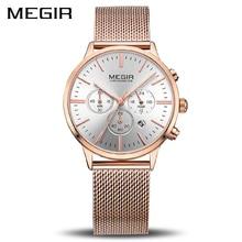 Marka megir luksusowe kobiety zegarki moda panie zegarek kwarcowy Sport Relogio Feminino zegar zegarek dla miłośników dziewczyna przyjaciel 2011